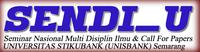Seminar Nasional Multi Disiplin Ilmu Unisbank 2017