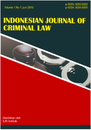 Indonesia Journal of Criminal Law