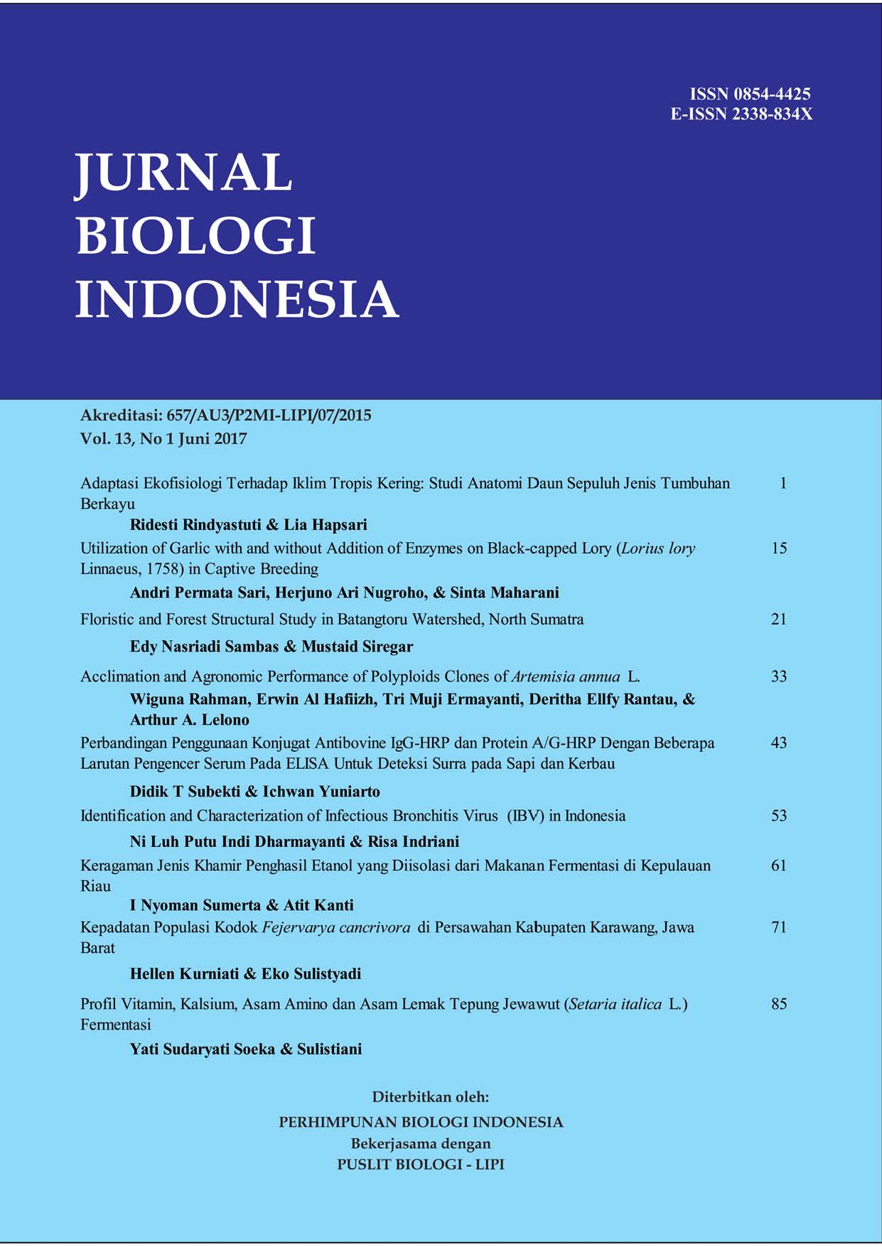 Indonesian Journal Of Biology