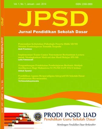 Jurnal Pendidikan Sekolah Dasar Ahmad Dahlan Jpsd Neliti