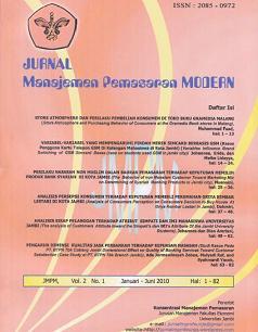 Jurnal Manajemen Pemasaran Modern
