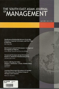 South East Asian Journal of Management