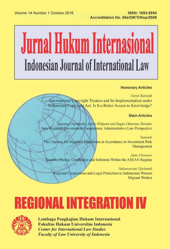 Indonesian Journal Of International Law Ijil Neliti