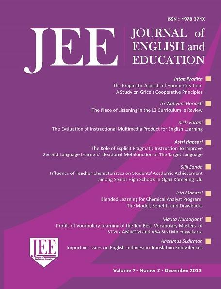 UII Journal of English and Education (JEE) - Neliti