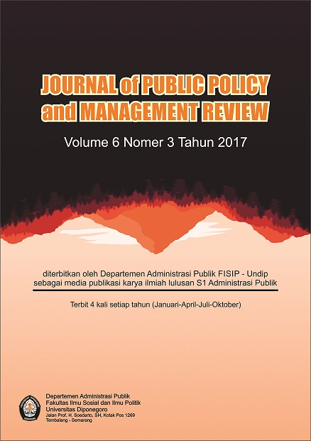Indonesian Journal Of Public Policy And Management Review