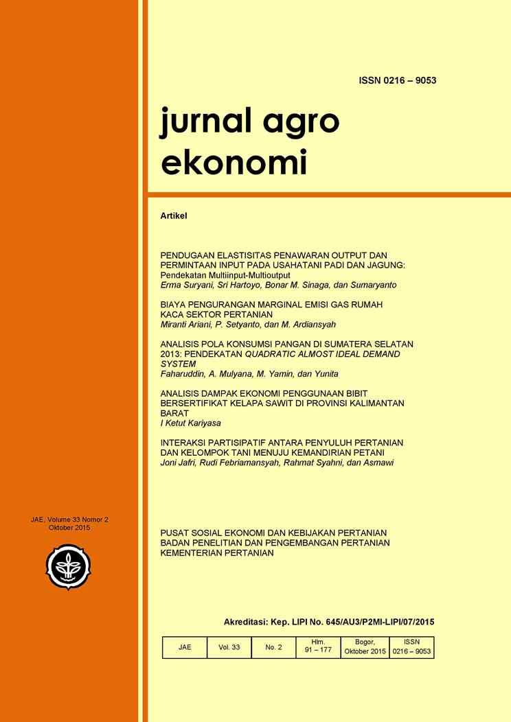 Jurnal Agro Ekonomi Jae Neliti