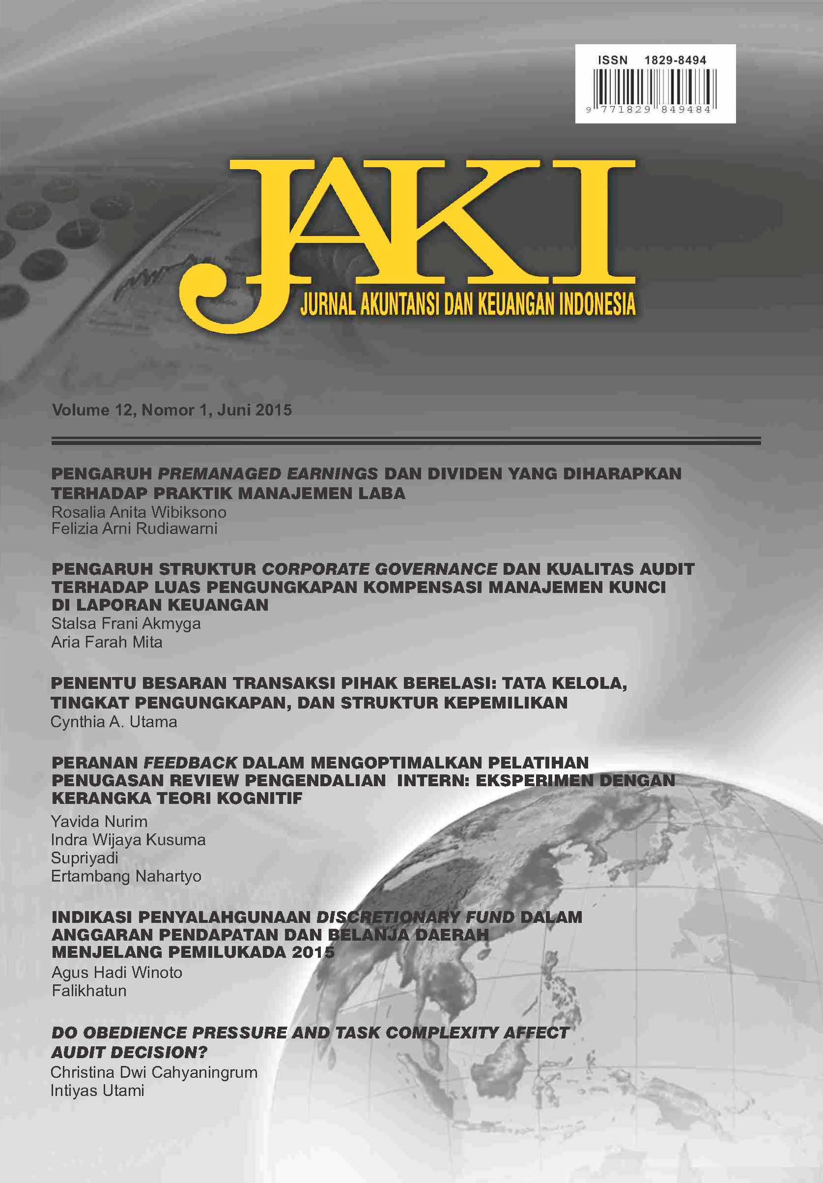 Indonesian Journal Of Accounting And Finance Jaki