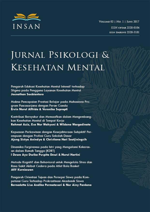 Insan Jurnal Psikologi Dan Kesehatan Mental