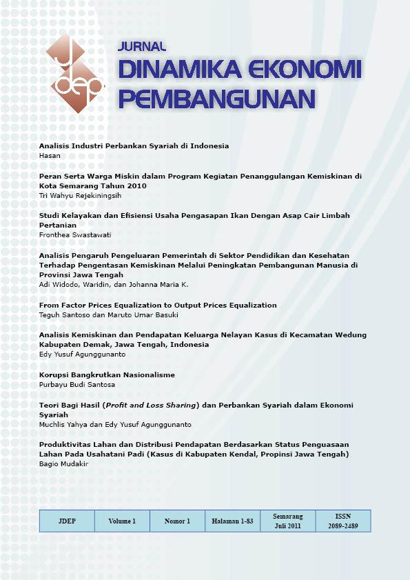 Jurnal Dinamika Ekonomi Pembangunan Jdep
