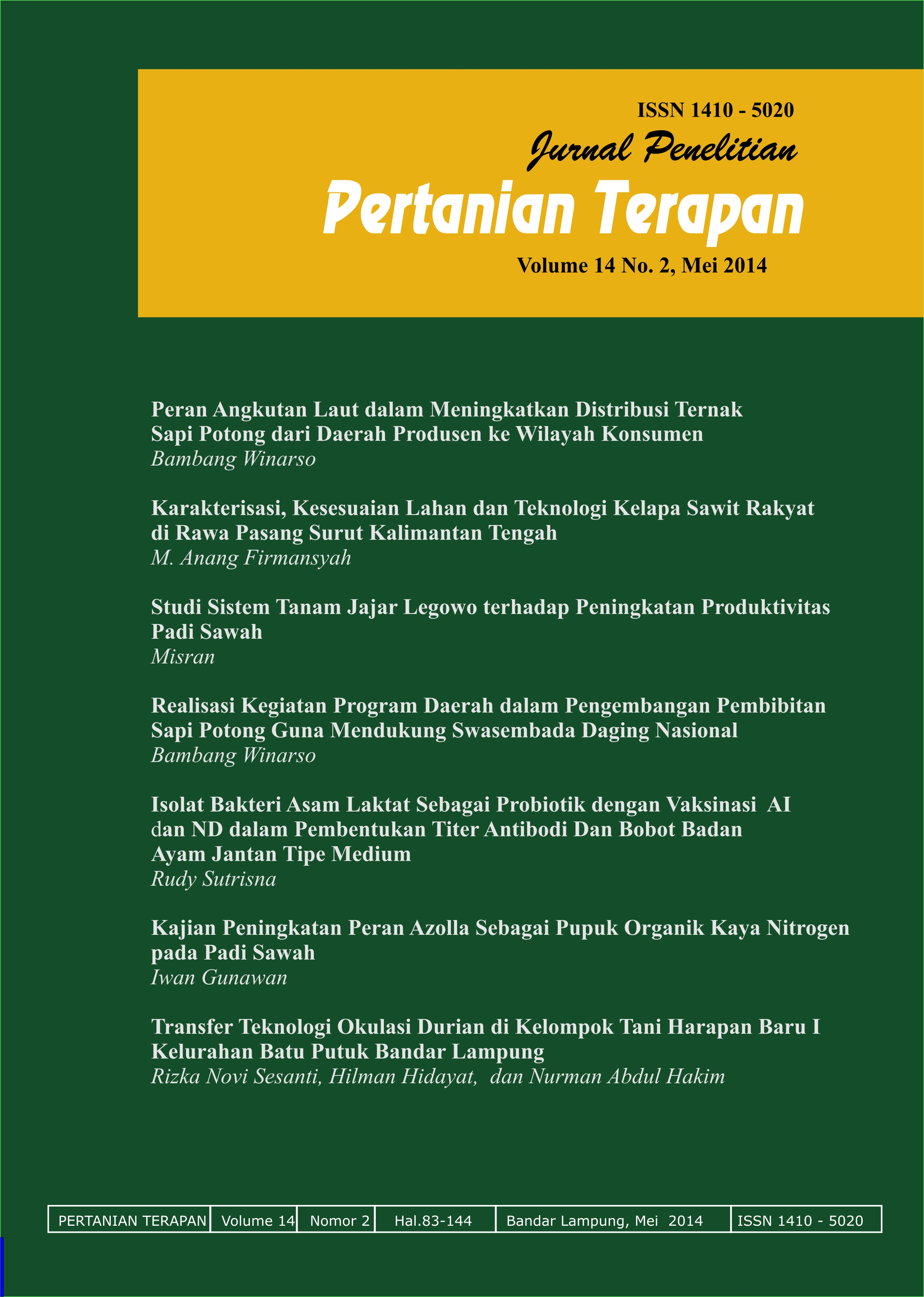 Indonesian Journal of Applied Agriculture