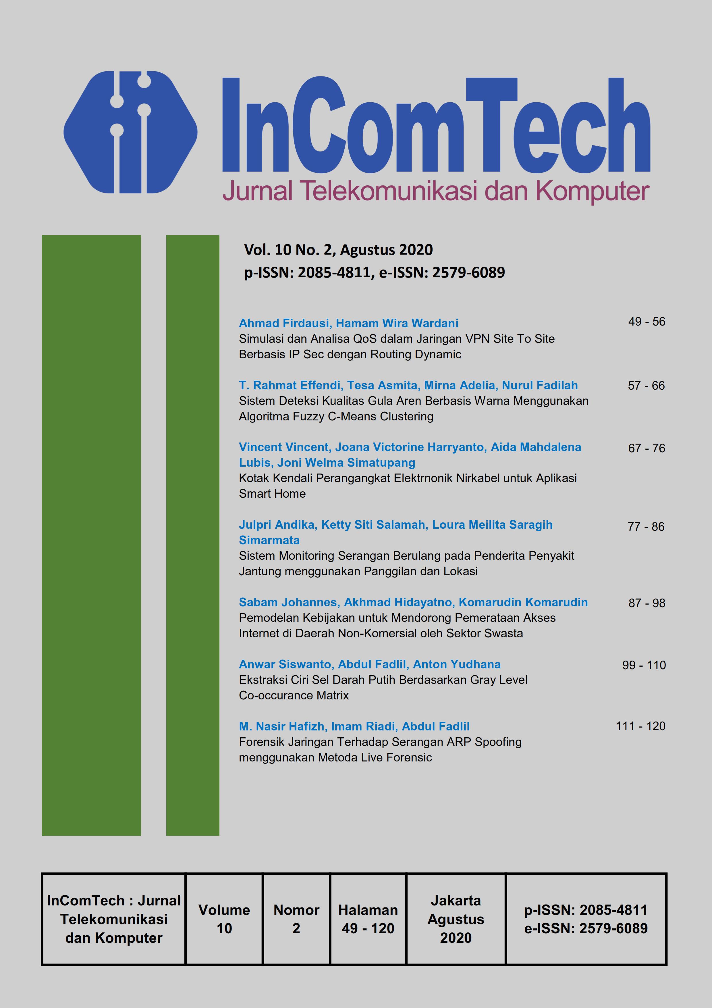 Incomtech Jurnal Telekomunikasi Dan Komputer