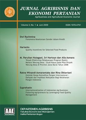 Jurnal Agribisnis dan Ekonomi Pertanian (AAE)