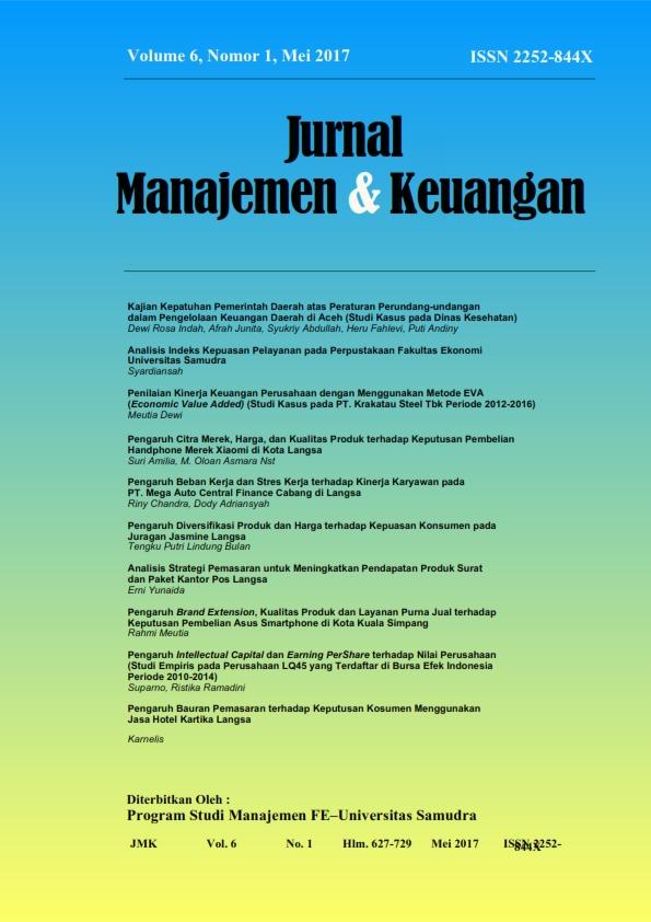 Jurnal Manajemen Dan Keuangan Unsam